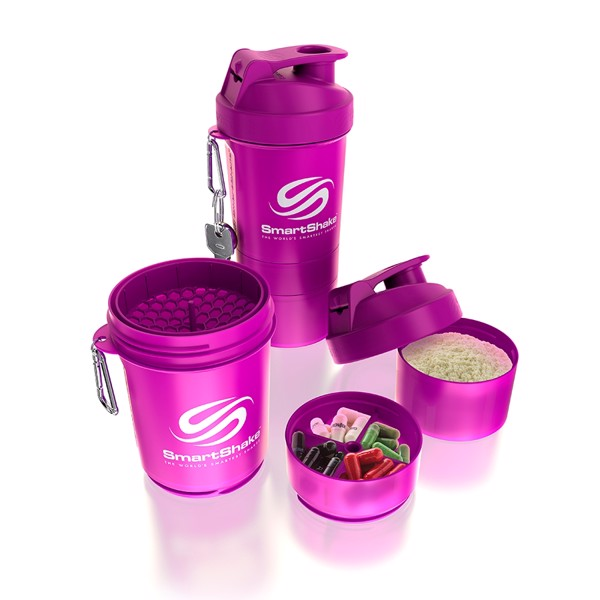 Image of   Smartshake Original2go 600ml Neon Purple
