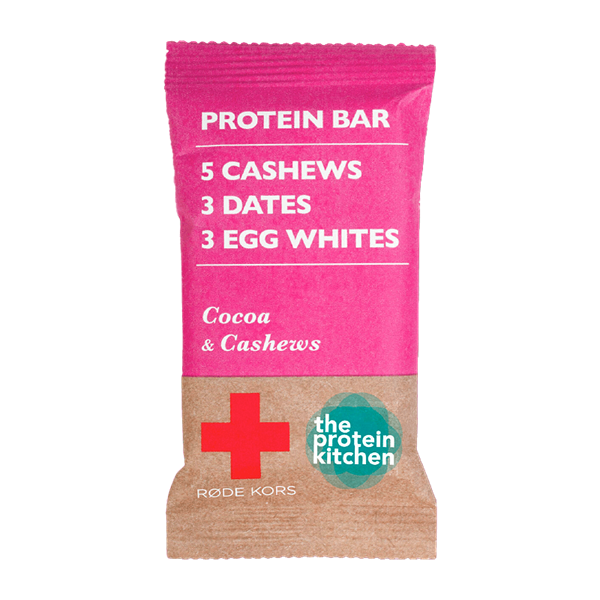 Køb STOP MADSPILD! The Protein Kitchen Proteinbar Cocoa & Cashew 1x55g