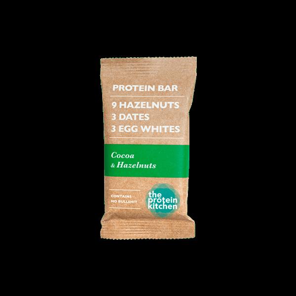 Køb STOP MADSPILD! The Protein Kitchen Proteinbar Cocoa & Hazelnuts 55g