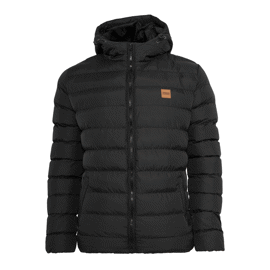 Urban Classics Basic Bubble Jacket Black/Black