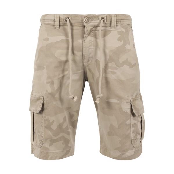 Image of   Urban Classics Camo Cargo Shorts Sand Camo