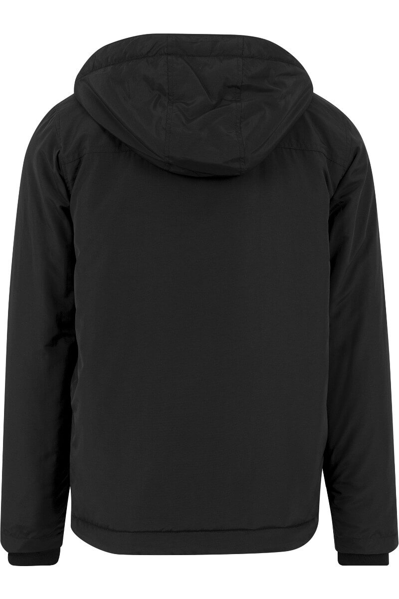 Urban Classics Padded Pull Over Jacket Black