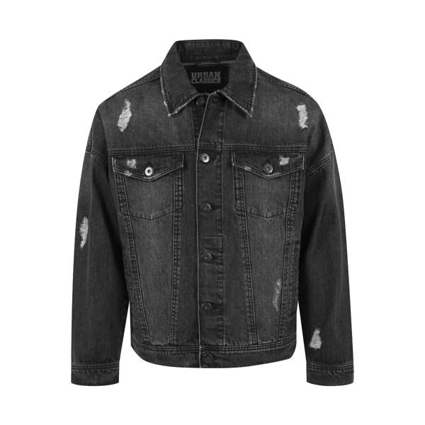 Billede af Urban Classics Ripped Denim Jacket Black