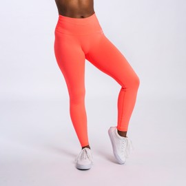 BM Seamless Ribbed High Waist Tights Sweet Orange