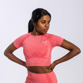 BM Seamless Cropped Tee Coral