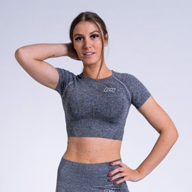 BM Seamless Cropped Tee Grey